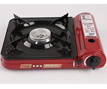 CY&Y Portátil de Gas de Camping Cocina de combustión única Estufa Sistema de Encendido automático Esmalte