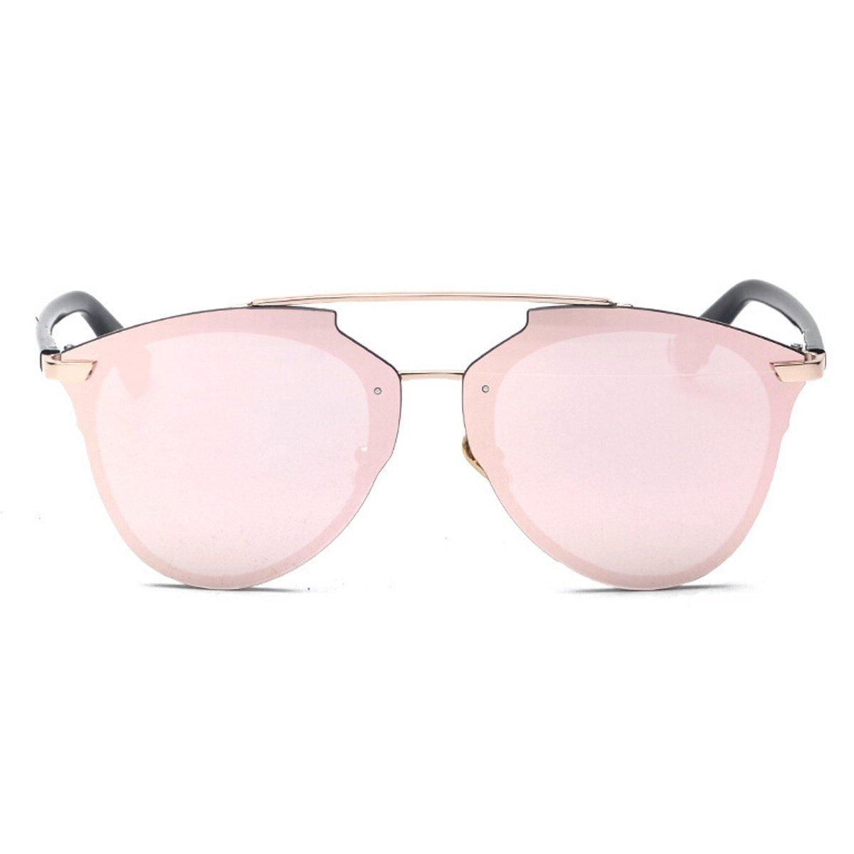 Reflektierende Prisma Sonnenbrille Mode Retro Brille Männer Und Frauen Universal,BlueBoxBlueFilmC58