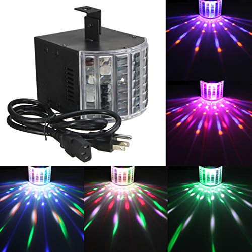 Nesee DJ Stage Lights, Party Lights 18W DMX512 RGB Sound Activated Stage Disco Lights Light Beams with Remote Control for Dance Parties Bar Karaoke Xmas Wedding Show Club]()