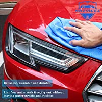 26 x 17 inches HAIMEEC Cleaning Chamois Synthetic Drying Premium Chamois Cloth for Car Super Absorber Cloth for Car Blue Tube 3 Pack