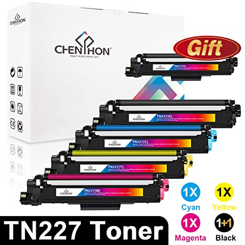 ChenPhon Compatible Toner Cartridge for Brother TN227 TN-227 HL-L3210CW HP-L3230CDW HL-L3270CDW HL-L3290CDW MFC-3710CW MFC-3770CDW-4Pack