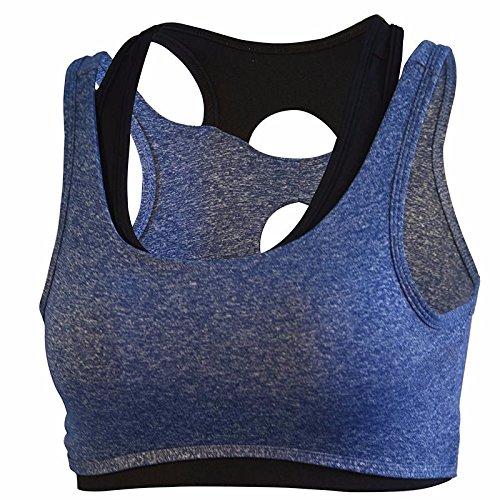 Sports Gilet Condition Type Royal Le Blue Guhi Bra Choc Sous Physique Formation Rassemble Xwa1B