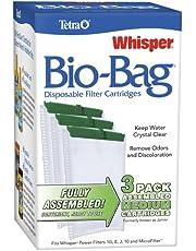 Tetra Whisper Bio-Bag Disposable Filter Cartridges 3 Count, For aquariums, Medium