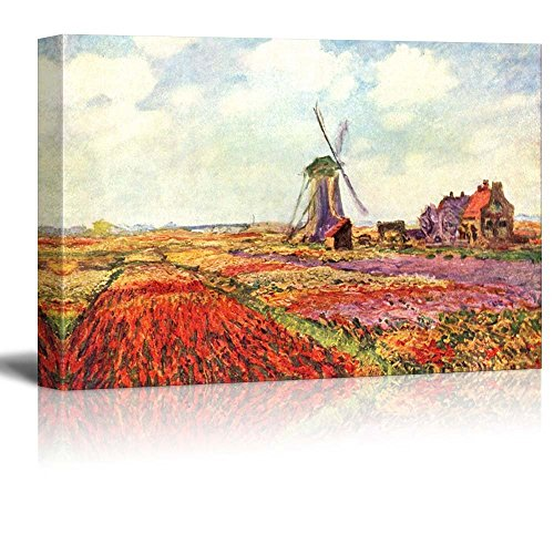 Field Tulips in Holland by Claude Monet Impressionist Art