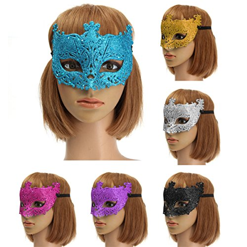 [Paleo Colorful Venetian Glitter Mask Masquerade Costume Ball Mask Party Supplies] (Party Glitters Costumes)
