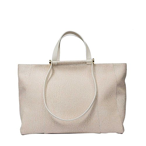 Borbonese Women's 903994320P46 White Polyester Tote by BORBONESE