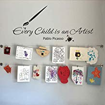 "BATTOO Every Child Is An Artist Wall Decal - Art display Decal - Kids Room Wall Decal - Playroom Wall Decal(Black, 10""h x22""w)"
