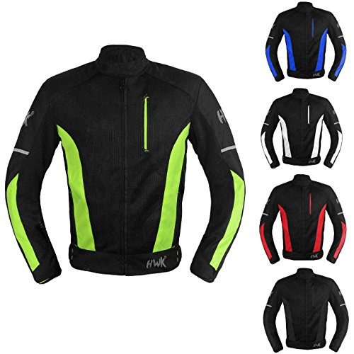 (Mesh Motorcycle Jacket Textile Motorbike Summer Biker Air Jacket CE ARMOURED BREATHABLE (XX-Large, Hi-Vis Green))