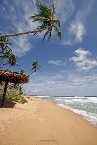 Tropical Beach in Sri Lanka Journal: 150 page lined notebook/diary