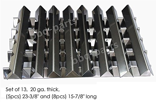 "Hongso FB7538 7538 Stainless Steel Flavorizer Bars for Weber 7538, Set of 13 (5 pcs 23-3/8"" long , 8 pcs 15-7/8"" long, 20 GA.), aftermarket replacements"