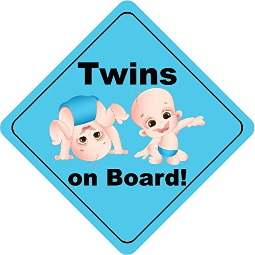 Twins On Board Boys Dance Cute Funny Baby Sticker Decal Design 5'' X 5''