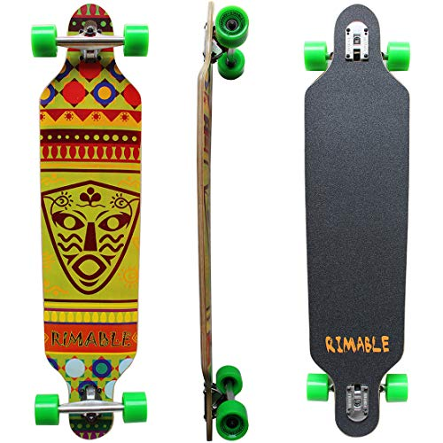 RIMABLE Drop-Through Longboard for Beginners