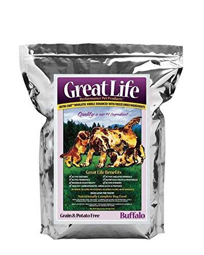 Great Life Grain and Potato Free Dog Food Formula, Buffalo, 7-Pound