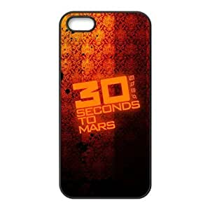 30 Seconds To Mars Design Solid Rubber Customized Cover Case for iPhone 5 5s 5s-linda585
