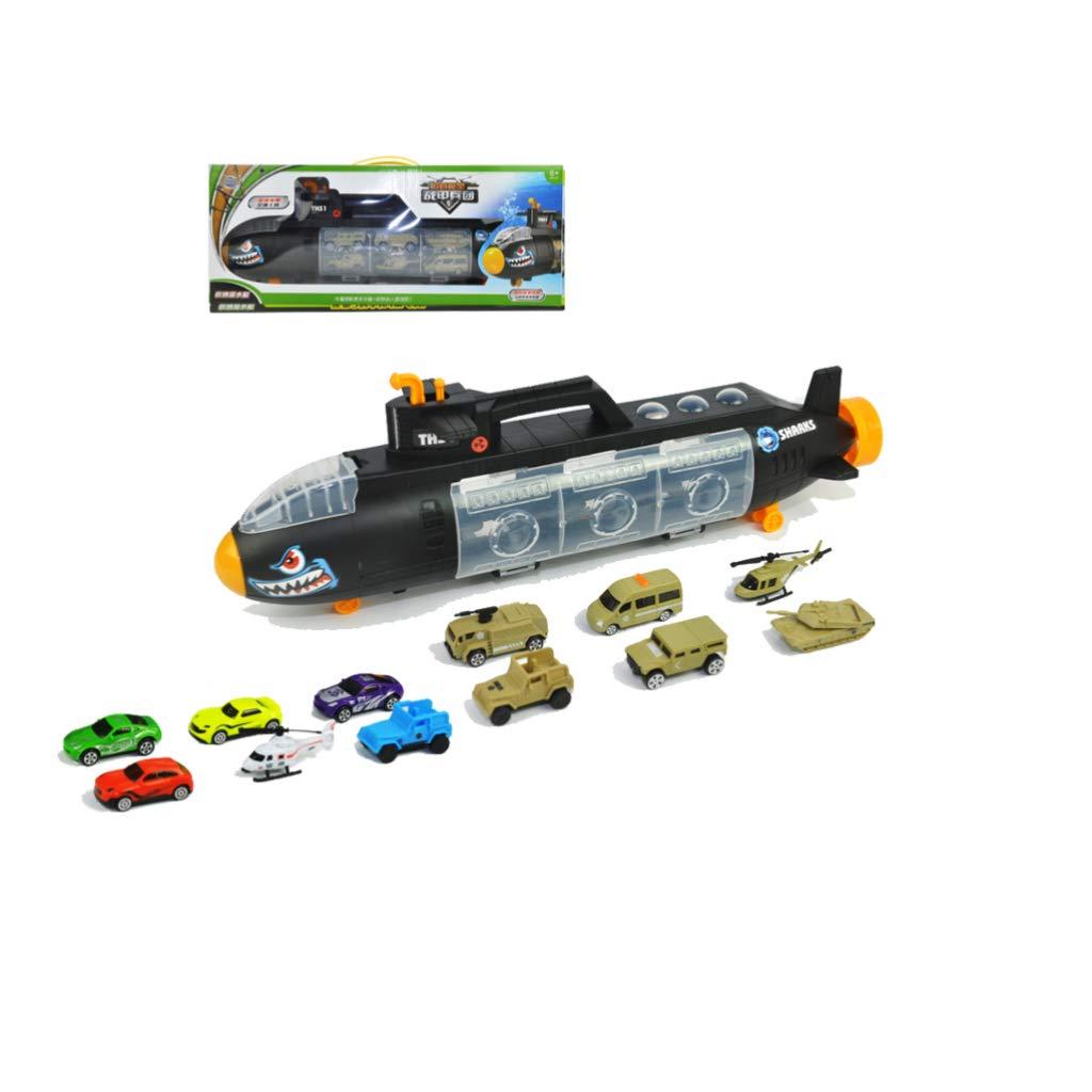 Modello di sottomarino giocattolo - Scorrevole contenitore di veicoli di stoccaggio Contenitore di grandi dimensioni Trasporto nave Scivolare sottomarino Modello di grande camion - Ragazzi e regali pe