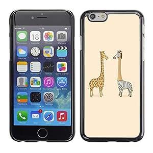 TECHCASE**Cubierta de la caja de protección la piel dura para el ** Apple iPhone 6 Plus 5.5 ** Giraffe Zebra Savannah Art Drawing Childrens