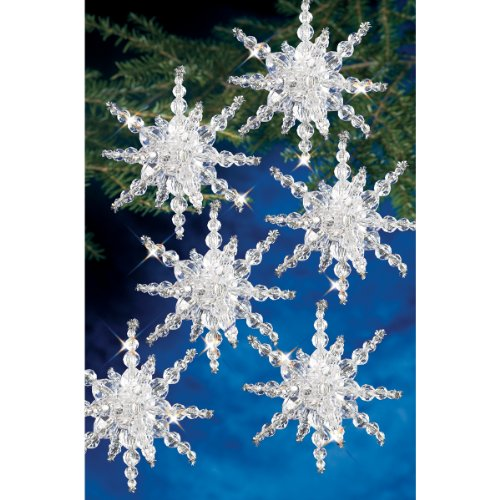 - Beadery BOK-7282 Holiday Beaded Ornament Kit, Snow Cluster