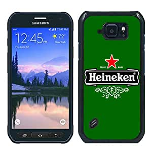 Personalized Custom Samsung Galaxy S6 Active Case,Heineken LOGO 2 Black Samsung Galaxy S6 Active Phone Case