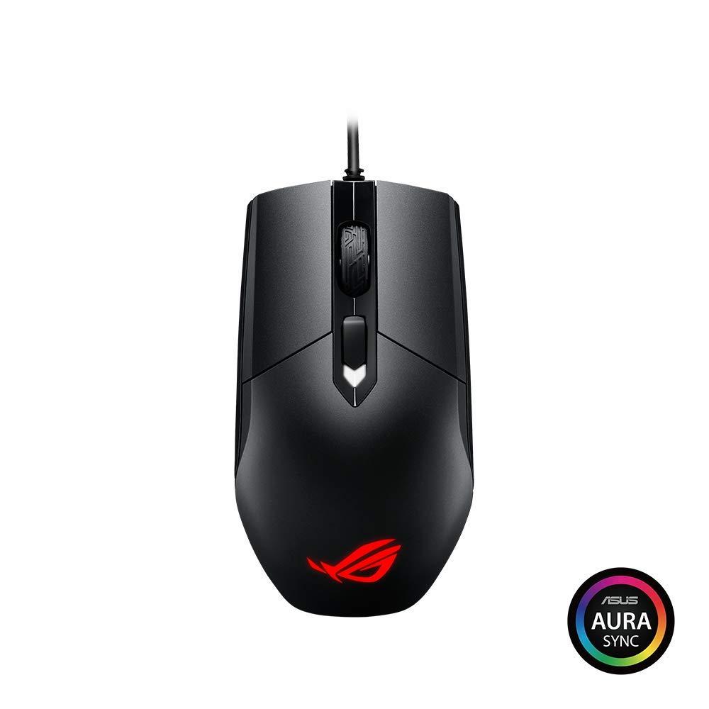 ASUS ROG Strix Impact Lightweight, Ergonomic-Ambidextrous Optical MOBA  Gaming Mouse with AURA Sync