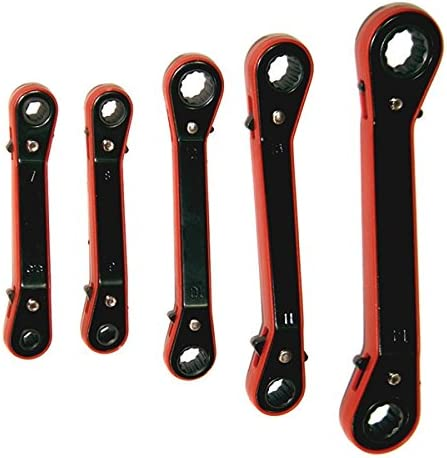Shop-Tek 5-Piece Offset Ratchet Box End Wrench Set 7//32-11//16 Sold by Ucostore Only WRROS-5