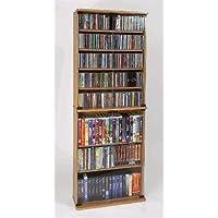 Leslie Dame GM-570W Multimedia Storage Cabinet with Glass Doors, Walnut