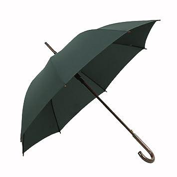 GYB paraguas Paraguas de mango de madera maciza 110cm Superficie de paraguas grande 8 Costillas Costillas