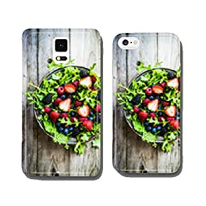 Green salad with arugula and berries cell phone cover case iPhone5