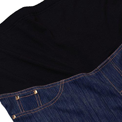 GINKANA High Waist Maternity Denim Shorts Cotton Summer Over Belly Pregnancy Shorts Linen Pants by GINKANA (Image #4)