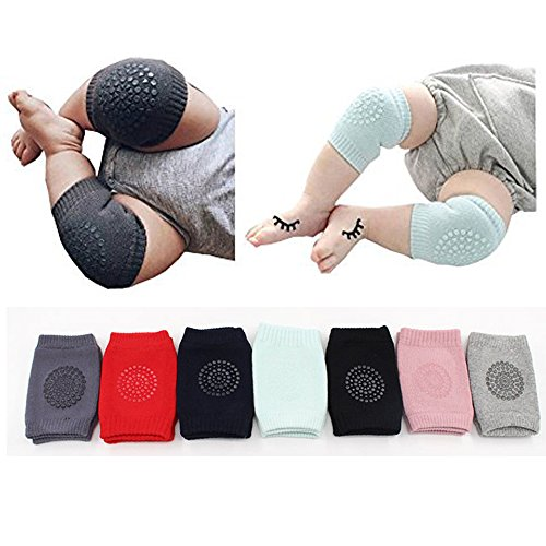 new Flyou 7 Pair Baby Crawling Knee Pads Anti-slip Kneepads Toddler Knee Elbow Pads Safety Protector for 9 months - 2 years big discount