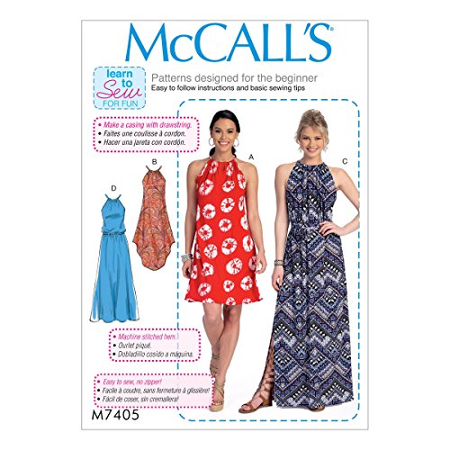 Amazon.com: McCall Patterns M74050Y0 Misses Dresses and Belt: Arts, Crafts & Sewing