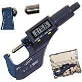 """iGaging Tube Micrometer Dual Ball Anvil Digital Electronic Micrometer w/Large Display Inch/Metric 0-1"""""""