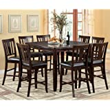 247SHOPATHOME IDF 3336PT 9PC SET Dining Room Sets, 9