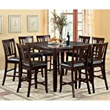 247SHOPATHOME IDF-3336PT-9PC-SET Dining-Room-Sets, 9-Piece, Espresso For Sale
