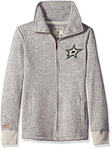 Adidas Big Game Fleece (NHL Dallas Stars Womens Ccm Fleece Track Jacketccm Fleece Track Jacket, Grey Heathered, Medium)