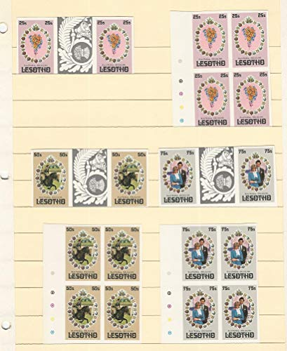 Lesotho, Postage Stamp, 335-337 Mint NH Imperf Blocks & Gutter Pairs, DKZ ()