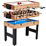 Lancaster 48'' 3 in 1 Pool Billiard Slide Hockey Foosball Combo Arcade Game Table