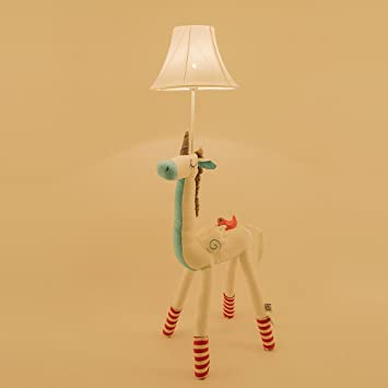 Amazon.com: Super Cute Animal Cotton Floor Lamp for Children, Giraffe /Unicorn/Alpaca/Well dress Deer with bag LED Desk Lamp Cotton Decorative Table Lamp ...