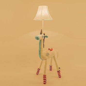 Amazon.com: Super Cute Animal Cotton Floor Lamp for Children, Giraffe /Unicorn/Alpaca/Well dress Deer with bag LED Desk Lamp Cotton Decorative Table Lamp ...
