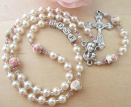 c932c28e3 Amazon.com: Catholic Baby/Toddler Personalized White Pearl ...