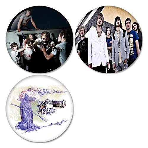 (Chiodos #3 Pinback Buttons Badges/Pin 1.25 Inch (32mm) Set of 3 New)