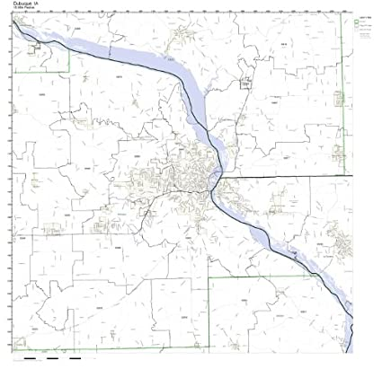 Amazon Com Dubuque Ia Zip Code Map Laminated Home Kitchen