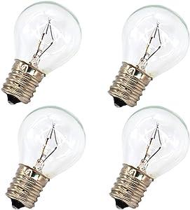 4 Pack S11 Intermediate E17 Base 40 Watt Bulbs for Lava Lamps,Replacement Bulbs for Lava Lamps,Glitter Lamps