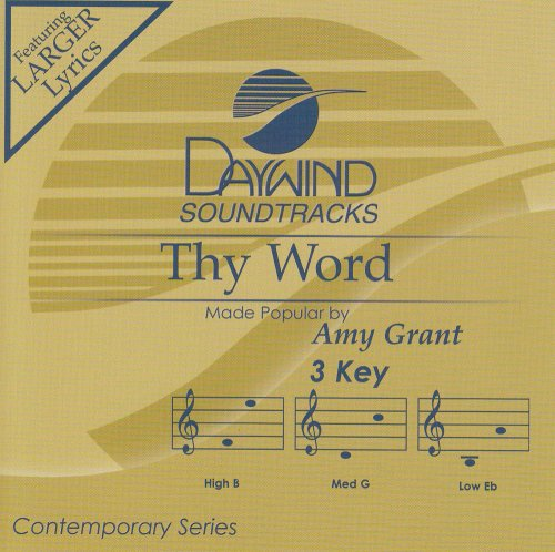 Thy Word [Accompaniment/Performance Trac - Amy Grant Accompaniment Shopping Results