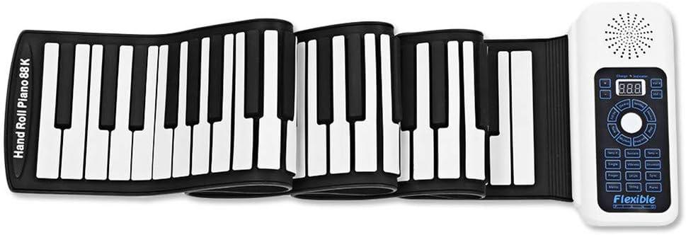 WLIXZ Hand Roll Electronic Piano, Teclado Engrosado, con ...