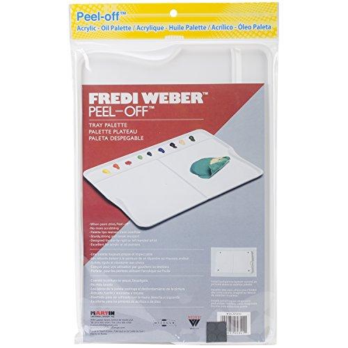 Martin Universal Mijello Fredi Weber Peel Tray, 12.75 x 9-Inch, Off Palette