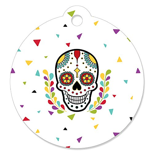 Day of The Dead - Halloween Sugar Skull Party Gift Tags (Set of 20) -