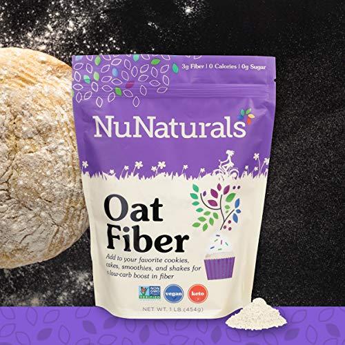 NuNaturals All Natural Oat Fiber, Non-GMO Certified, 155 Servings (1 lb) ()