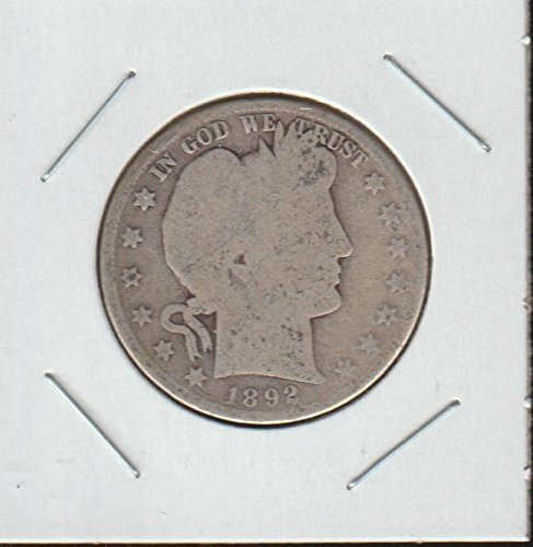 1892 Barber or Liberty Head (1892-1915) Half Dollar About Good