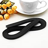 LAYs 120Pcs Quilling Paper Strips 5mm Width Origami Paper DIY Hand Crafts (Black)