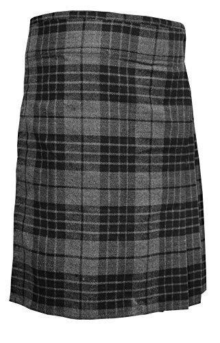 Highland Grey Men's 5 Yard Scottish Kilts Tartan Kilt 13oz Highland Casual Kilt (34